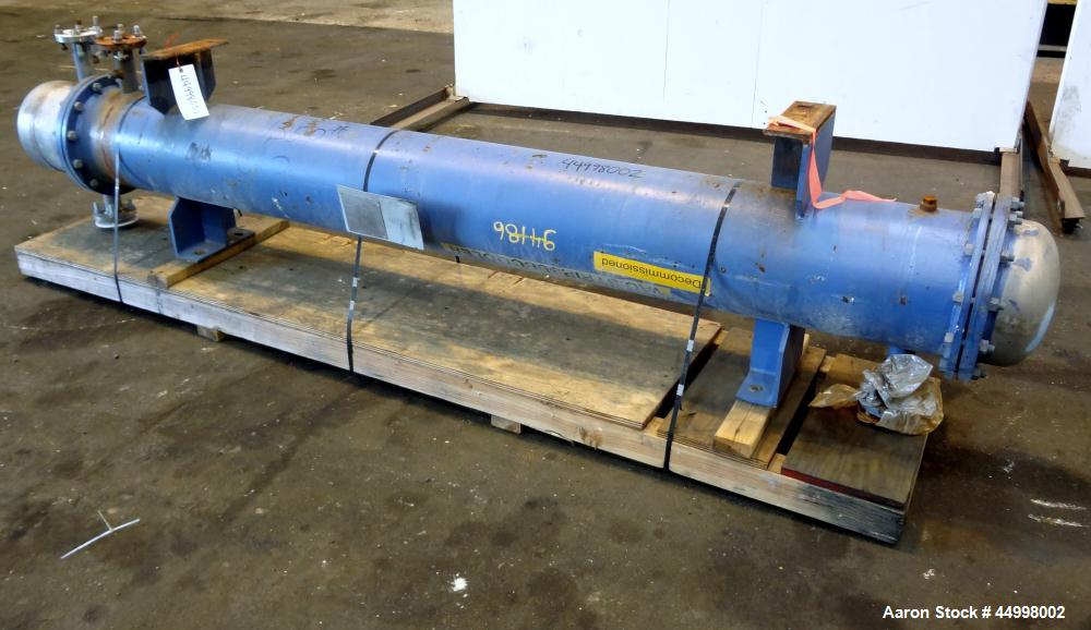 Used- Industrial Process Equipment 4 Pass Shell & Tube Heat Exchanger, 258 Square Feet, Model 4ST12-108, Horizontal. Carbon ...