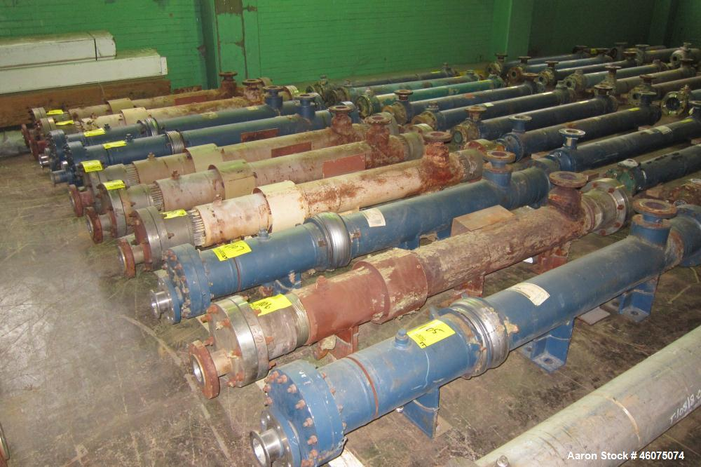 Used- ITT Industries Shell & Tube Heat Exchanger, 127 Square Feet, Part# 5-068-08-078-004, Horizontal. Carbon steel shell ra...