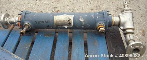 Used- ITT Standard Single Pass Shell And Tube Heat Exchanger, 19 square feet, Part# 5-162-05-024-024, Horizontal. 316 stainl...