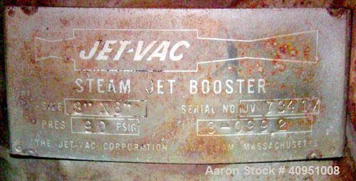 Used- Stainless steel Jet-Vac Steam Jet Booste