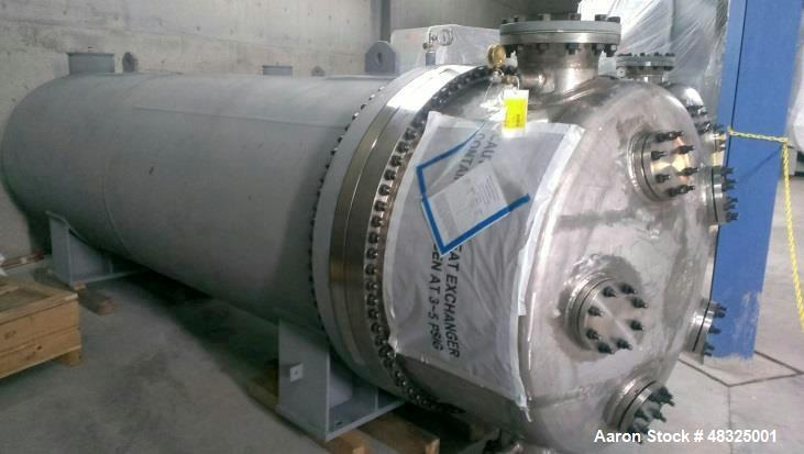 Unused- Joseph Oat Corporation 8 Pass U Tube Shell & Tube Heat Exchanger, 5700 S