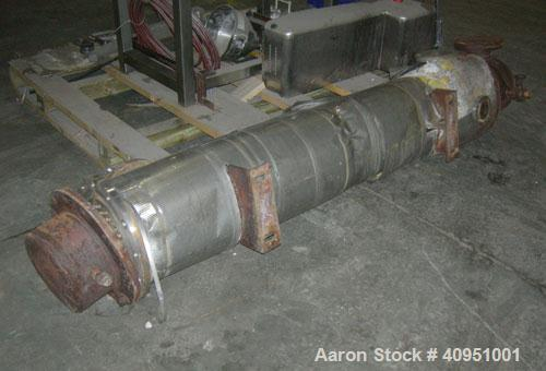 Used- KAM Thermal 4 Pass Shell and Tube Heat Exchanger, Approximately 78 Square Feet, Horizontal. 316 stainless steel shell ...