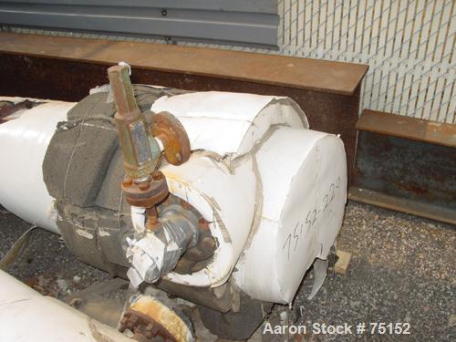 "Used- KAM Thermal U-Tube Heat Exchanger, 91 Square Feet, Horizontal. (52) 3/4"" Diameter x 9' long 304 stainless steel tubes ..."