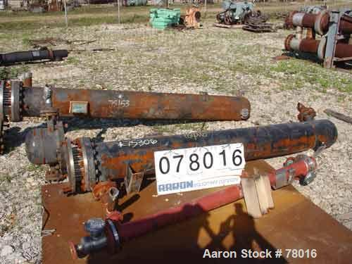 "USED: KAM thermal 6 pass U-tube heat exchanger, 162 sq ft, horizontal.(92) 3/4"" diameter x 9' long 304 stainless steel tubes..."