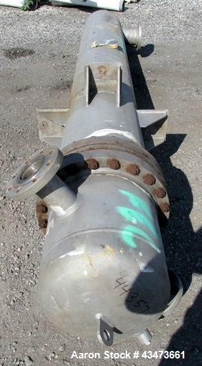 "Used- Ketema Shell & Tube ""U-Tube"" Heat Exchanger, 270 Square Feet, Model 15-A-108. (92) 316L Stainless steel .625"" diameter..."