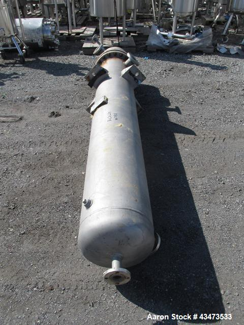 Used- Ketema U Tube Heat Exchanger, 239 Square Feet, Model 15-A-96. 316L Stainless steel tubes, tube sheet, bonnet and shell...