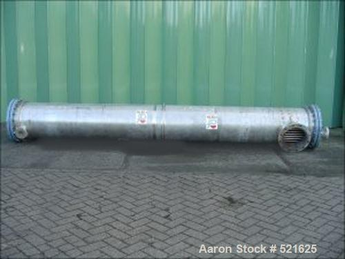 USED: Kuehni AG heat exchanger, type NKLG 40M2 SPEZ, No. 881141,new 1988. Heating surface 40 sq m. Tube material stainless s...