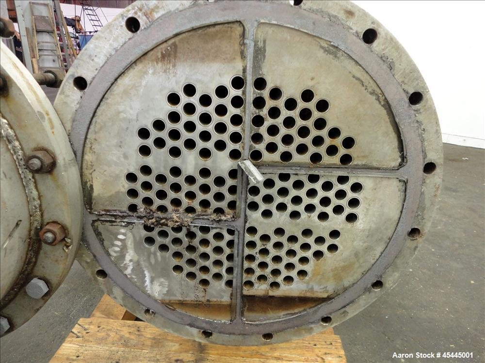 Used- Ludell Manufacturing 6 Pass Shell & Tube Heat Exchanger, Approximately 264 Square Feet, Model 18-108-6, Horizontal. Ca...