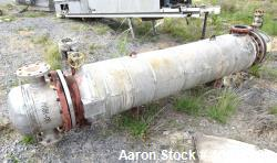 Used- Doyle & Roth Shell & Tube Heat Exchanger, Approximate 169 Square Feet, Horizontal. Carbon steel shell rated 150 psi at...