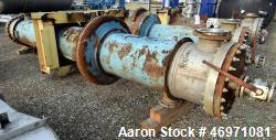 Used- Yula 3 Pass Shell & Tube Heat Exchanger, Approximately 500 Square Feet, Model WC-3L-168GS, Horizontal. Carbon steel sh...