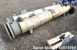 Used- Yula 6 Pass Shell & Tube Heat Exchanger, 196 Square Feet, Model WC-6F-120BS, 304L Stainless Steel, Horizontal. 304L St...