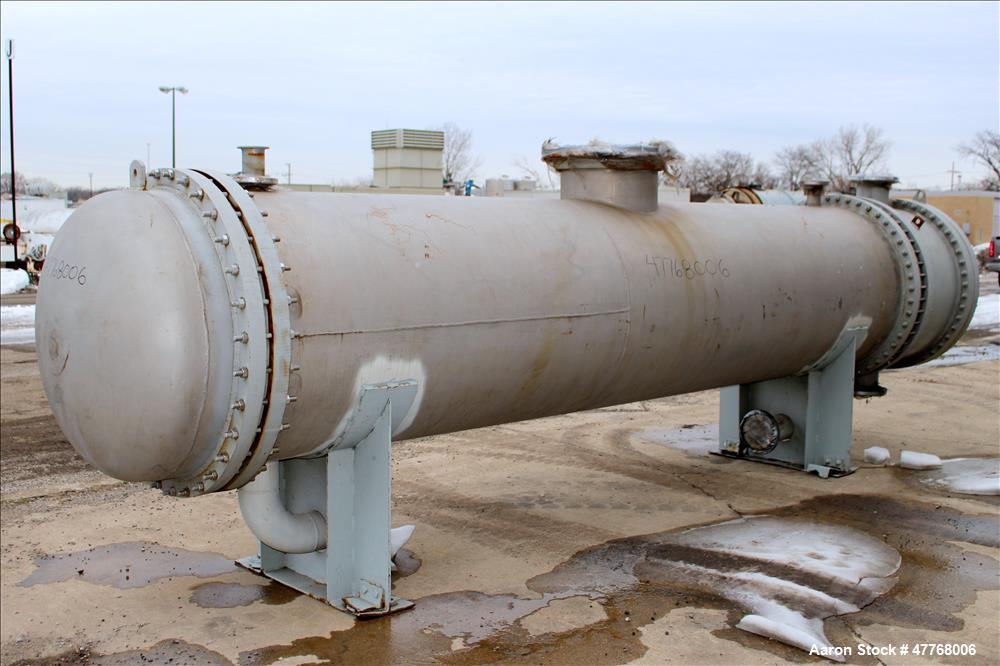 Used- Monticello Exchanger & Mfg. 2 Pass Shell and Tube Heat Exchanger, Approximate 2,988 Square Feet, Horizontal. Approxima...