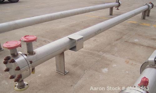 Unused- Mueller 2 Pass Shell and Tube Heat Exchanger, 101 square feet, horizontal. STI Tema Type BEM, Tema Size 6-240, Tema ...