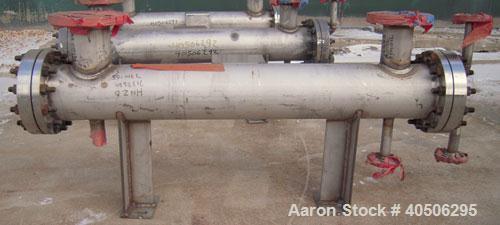 Unused- Mueller 4 Pass Shell And Tube Heat Exchanger, 9 square feet, Horizontal. Tema Type BEM, Tema Size 6-48, Tema Class C...