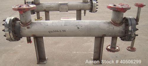 Unused- Mueller 4 Pass Shell And Tube Heat Exchanger, 9 Square Feet, Horizontal. STI Tema Type BEM, Tema Size 6-48, Tema Cla...