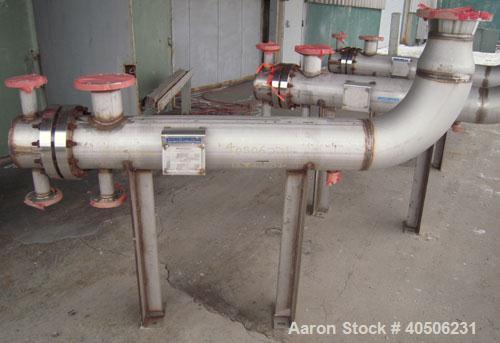 Unused- Horizontal Mueller U Tube Heat Exchanger, 18 Square Feet