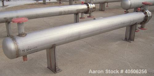 Unused- Mueller U Tube Shell and Tube Heat Exchanger, 56 square feet, horizontal. Tema Type BEU, Tema Size 8-96, Tema Class ...