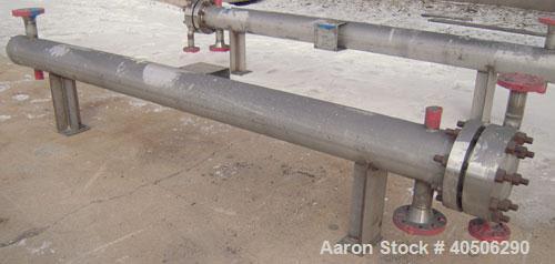 Unused- Mueller 4 Pass U Tube Shell And Tube Heat Exchanger, 25 square feet, Horizontal. Tema Type BEU, Tema Size 6-96, Tema...