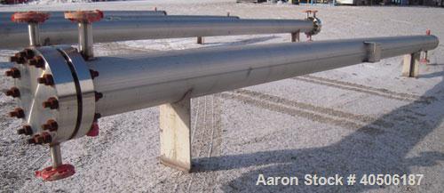 Unused- Mueller 6 Pass U Tube Shell and Tube Heat Exchanger, 84 square feet, horizontal. Tema Type BEU, Tema Size 8-216, Tem...
