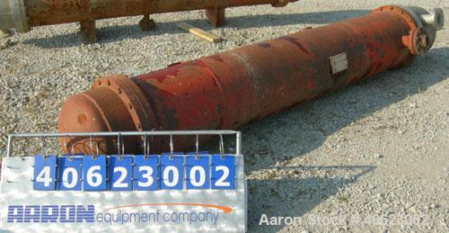 Used- Ludell Manufacturing 6 pass shell and tube heat exchanger, model 18-108-6. Approximately 264 square feet, horizontal. ...