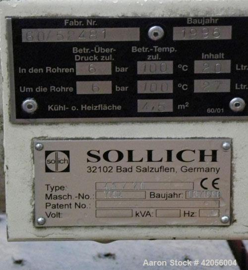 Used- Carbon Steel Sollich Shell and Tube Heat Exchanger