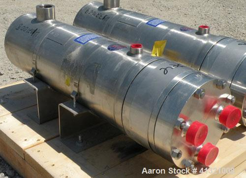 "Unused- Enerquip ""U"" Tube Heat Exchanger, Approximately 10 Square Feet, Stainless Steel, Horizontal, Model 6NPSX18BEUB. 304L..."