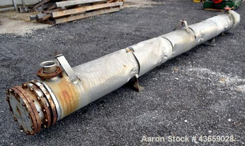 Used- Enerquip Shell & Tube Heat Exchanger, Approximately 423 Square Feet, Stainless Steel, Horizontal. Type BEM-14-216. 304...