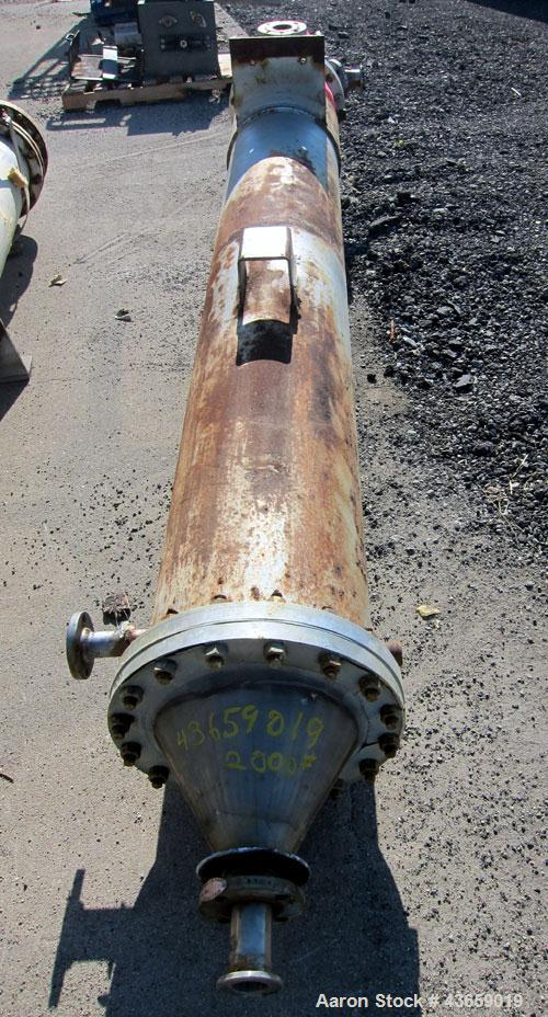 Used- Enerquip Shell & Tube Heat Exchanger, Approximately 307.7 Square Feet, Vertical. Type BEM-16-120. Carbon steel shell r...