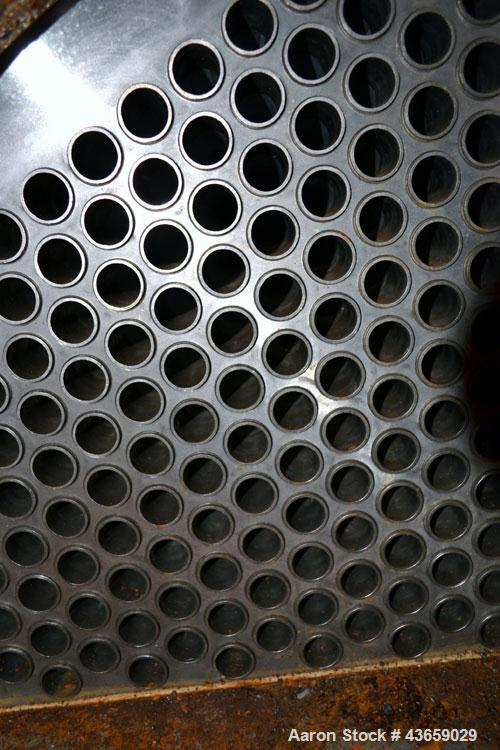 Used- Stainless Steel Enerquip Shell & Tube Heat Exchanger, Approximately 2032 Square Feet, horizontal