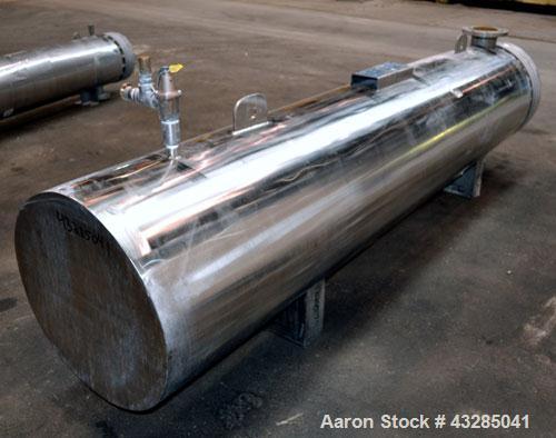 Used- Yula U Tube Shell & Tube Heat Exchanger, 672 Square Feet, Model WCV-8J-108AA2S. 316L Stainless steel tubes, tube sheet...
