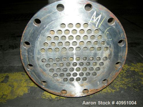 "Used- Multi Pass Shell and Tube Heat Exchanger, 119 square feet, horizontal. 316 stainless steel shell, no rating. (76) 3/4""..."