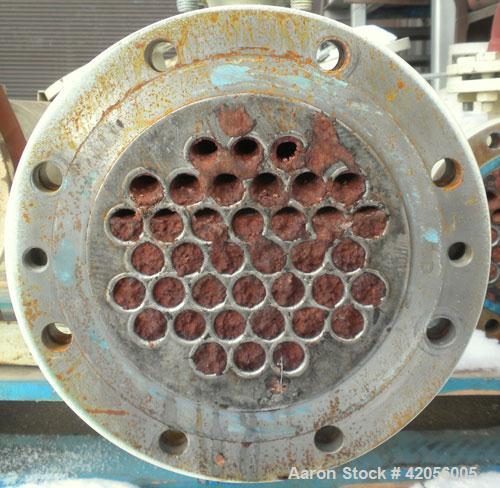 Used- Sollich Shell and Tube Heat Exchanger, 61 square feet, carbon steel, horizontal. Carbon steel shell rated 6 bar (87 ps...