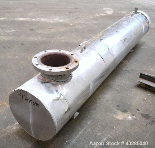 Used- Atlas U Tube Shell & Tube Heat Exchanger, 128 Square Feet. 316L Stainless steel tubes, tube sheet and bonnet. (56) U t...