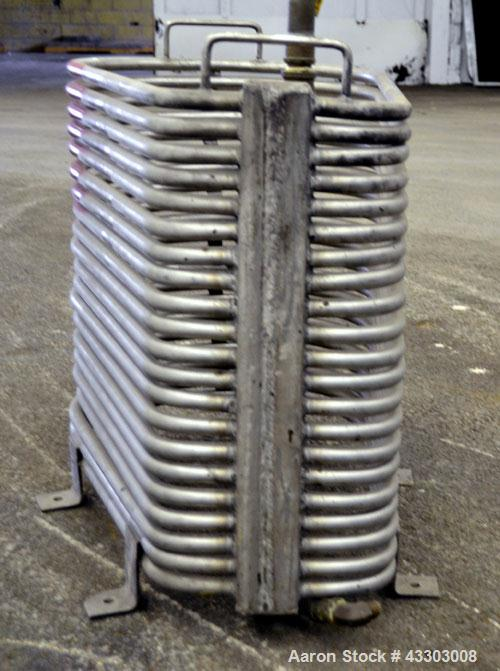 Used- Stainless Steel Custom Made Coil Water Immersion Tubular Heater,