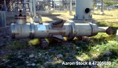 Unused- Perry Products Shell and Tube Heat Exchanger, 624 Square Foot, Model FTS-24-624, Vertical. 304L Stainless steel shel...