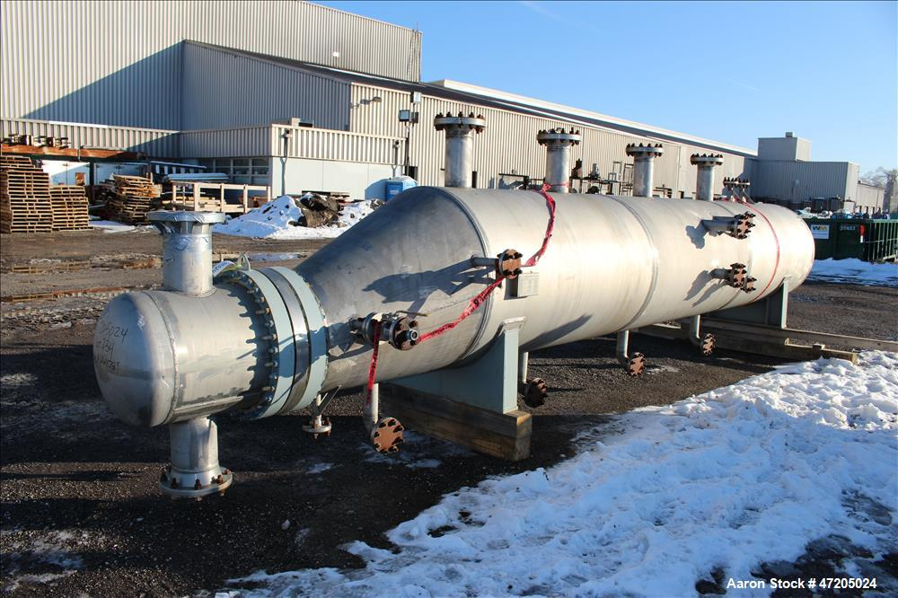 """Unused- Perry Products """"U"""" Tube Heat Exchanger, 1753 Square Foot, Model KTUSS-24X42, Horizontal. 304L Stainless steel shell ..."""