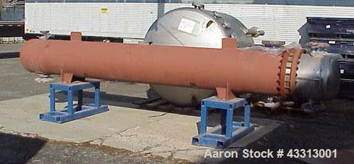 Used-Perry Products U Tube Heat Exchanger, 658 square feet, model UTSMX-24-1250, horizontal.Carbon steel shell rated 250 psi...