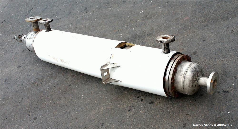 Used- Gold-Bar Engineering Ltd. Shell & Tube Heat Exchanger, Stainless Steel, Ve
