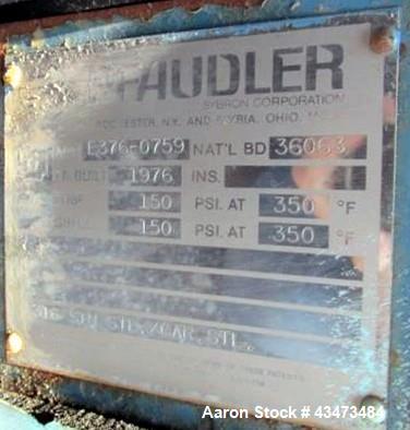 Used- Pfaudler Shell & Tube Heat Exchanger, 548 Square Feet, Model 20096-BEM. 316 Stainless steel tubes, tube sheets and bon...