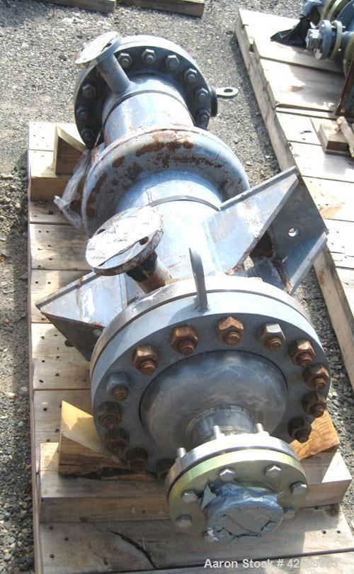 Used- Pfaudler Single Pass Shell & Tube Heat Exchanger, 29.9 square feet, vertical. Carbon steel shell rated 100 psi at -20 ...