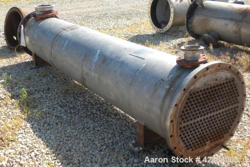 Used- Process Engineering and Machine Two Pass Shell and Tube Heat Exchanger, 886 square feet, horizontal. 316 Stainless ste...