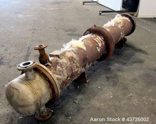 Used- Rubicon Industries Multiple Pass Shell & Tube Heat Exchanger, 324 Square Feet, Model SC16B4-108HE, Horizontal. Carbon ...