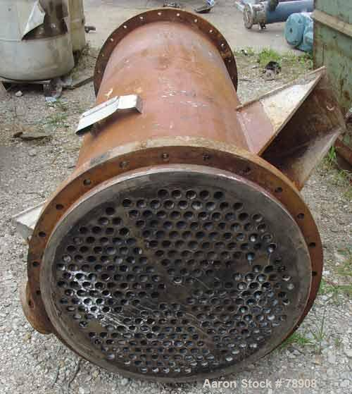 Used- Rubicon Single Pass Heat Exchanger, Model VT26C1-72V, 260 Square Feet, 316 Stainless Steel Product Contact, Vertical. ...
