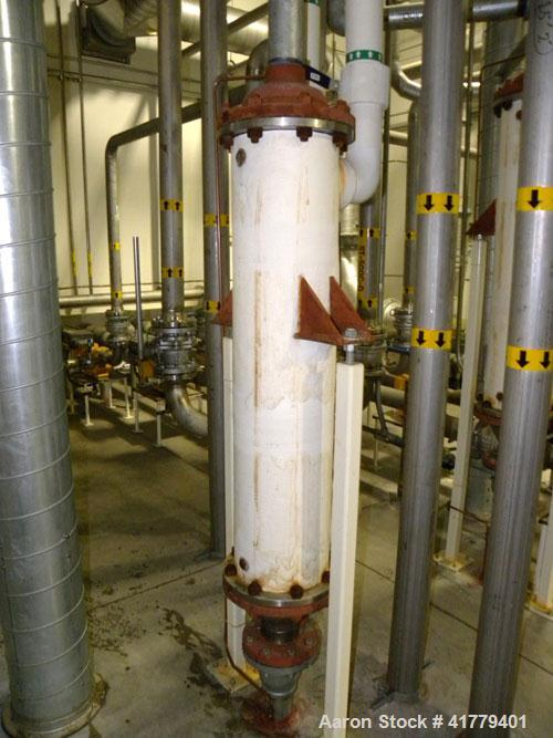 Used- Rubicon Single Pass Shell And Tube Heat Exchanger, 37 Square Feet, Vertical. Model VT8B1-48V. Carbon stel shell rated ...