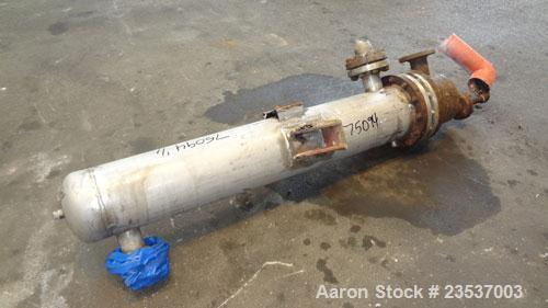 "Used- Rubicon U-Tube Heat Exchanger, 46 Square Feet, Vertical. Model WC10AU2-60VDTS. (51) 5/8"" Diameter x 5' long  304 stain..."