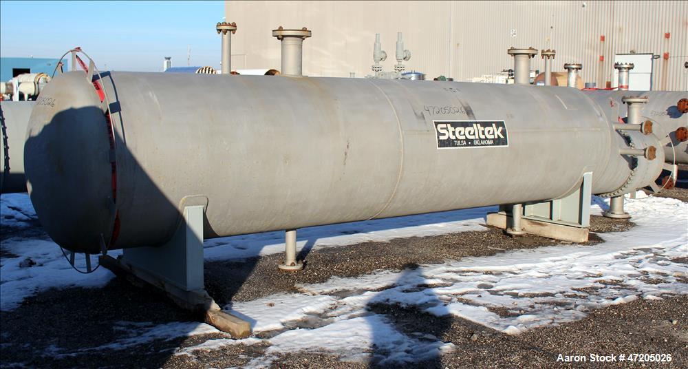 "Unused- Steeltek 6 Pass ""U"" Tube Heat Exchanger, 3,068 Square Feet, Type BKU, Size 30/48-240, Horizontal. 304L Stainless ste..."