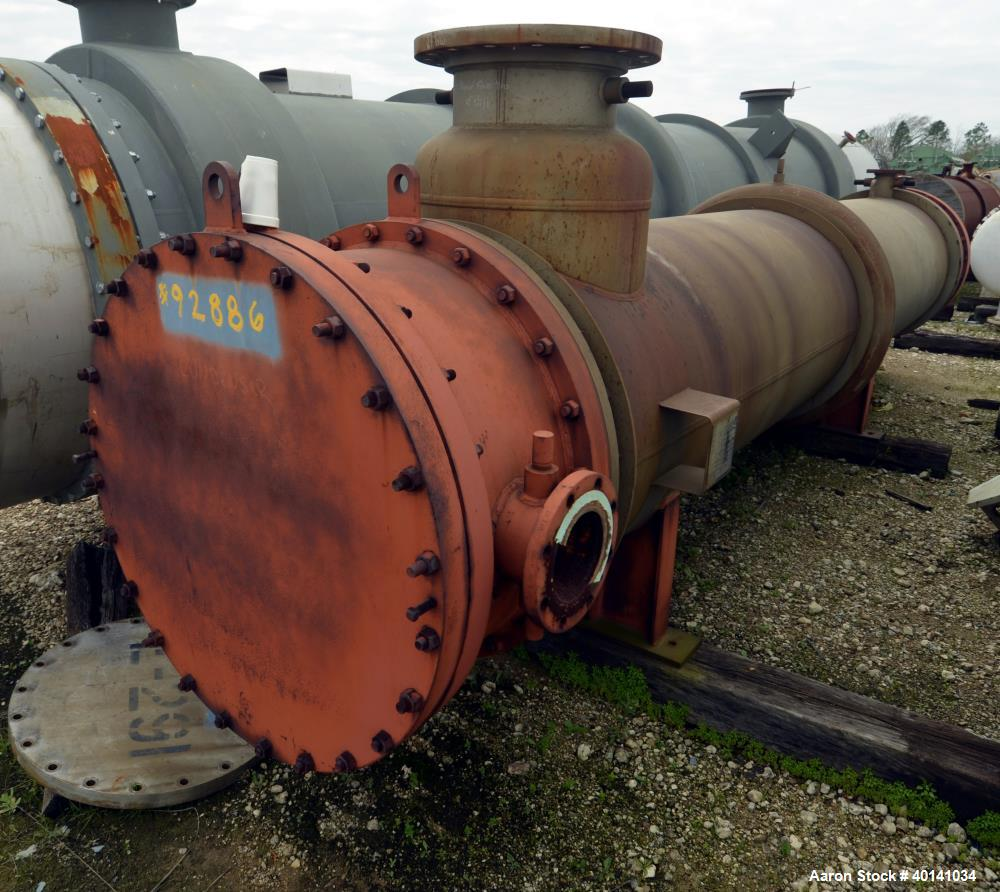 Used- Stainless Steel Struthers Industries Shell And Tube Heat Exchanger, Approximately 2425 Square Feet