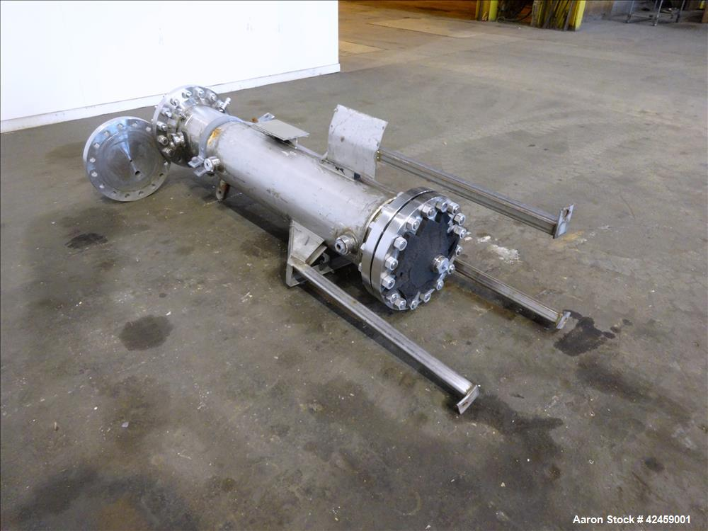 Used- Vertical Superior Fabricators Single Pass Heat Exchanger, 42 Square Feet