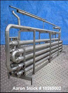 Used-Tetra Pak Spiraflo 9 Pass HTST Multi-Tube Heat Exchanger, Model MTR 154/19x25c-6-2/2