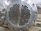 Used- Allegheny Bradford U Tube Heat Exchanger, Horizontal, Approximately 49 Square Feet. 304 Stainless steel shell rated 15...
